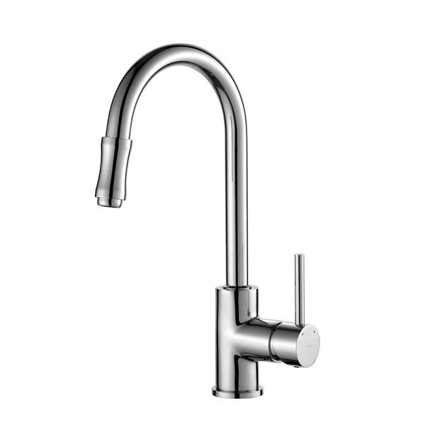 Kraus Single Lever Pull-out Sprayer Chrome Kitchen Faucet