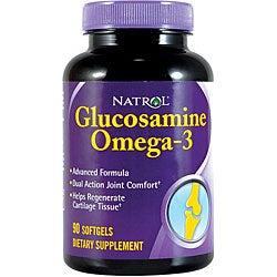 Natrol Glucosamine Omega-3 Pills (Pack of 2 90-count Bottles)