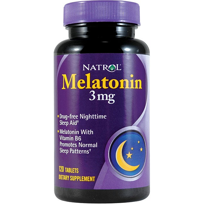 Natrol 3-mg. 120-count Melatonin (Pack of 4)