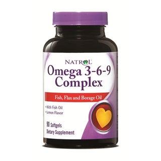 Natrol Omega-3 M/D Complex 3-6-9 VS Softgels (Pack of 3 90-count Bottles)