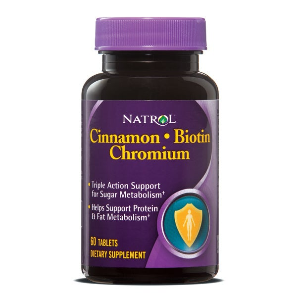 Natrol 60-count Cinnamon Chromium Biotin Supplements (Pack of 3)