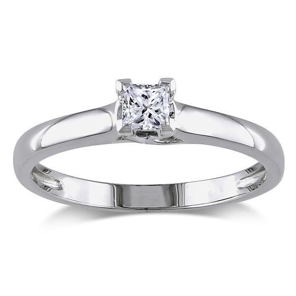 Miadora 14k Gold 1/4ct TDW IGL Certified Diamond Solitaire Engagement Ring (G-H, I1-I2)