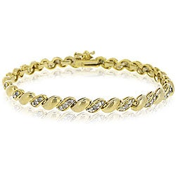 DB Designs 18k Goldplated 1ct TDW Diamond San Marco Bracelet (I-J, I3)