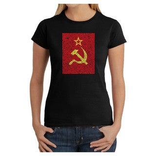 Los Angeles Pop Art Women's Soviet Flag T-shirt