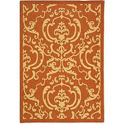 Safavieh Indoor/ Outdoor Bimini Terracotta/ Natural Rug (2'7 x 5')