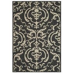 Safavieh Indoor/ Outdoor Bimini Black/ Sand Rug (2'7 x 5')