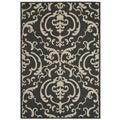 Safavieh Indoor/ Outdoor Bimini Black/ Sand Rug (4' x 5'7)