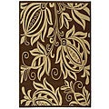 Safavieh Indoor/ Outdoor Andros Chocolate/ Natural Rug (5'3 x 7'7)