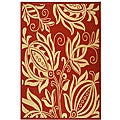 Safavieh Indoor/ Outdoor Andros Red/ Natural Rug (5'3 x 7'7)