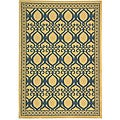 Safavieh Indoor/ Outdoor Tropics Natural/ Blue Rug (4' x 5'7)