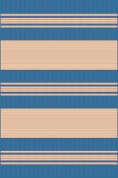 Spinnaker Stripe Blue Outdoor Rug (1'11 x 7'6)