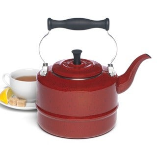 Paula Deen Signature Red Enamel 2-quart Tea Kettle