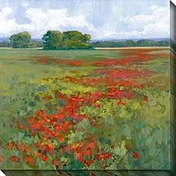 Kim Coulter 'Red Poppies I' Giclee Canvas Art