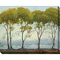 Kim Coulter 'Green Tree Line I' Canvas Art