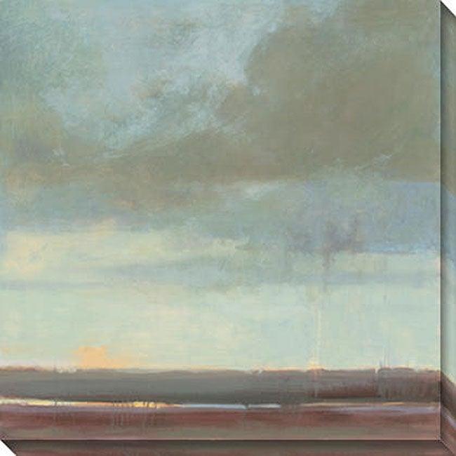 Kim Coulter 'Viridian Sky II' Oversized Canvas Art
