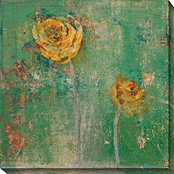 Maeve Harris 'Green Floral I' Oversized Canvas Art