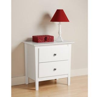 Woodbury White 2-drawer Nightstand