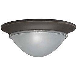 Olde Bronze Flush-mount Light Fixture