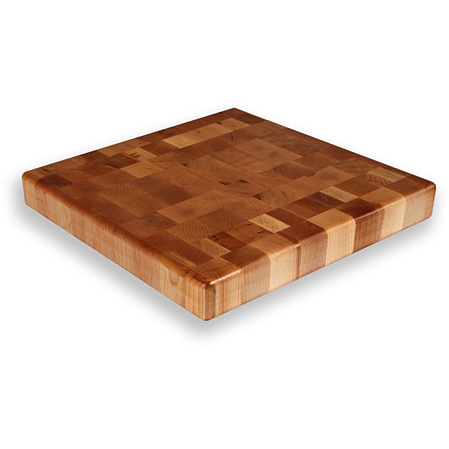 Maple End Grain 15-inch Square Chopping Block