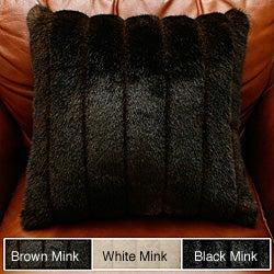 Faux Mink Fur Throw Pillow (Set of 2)