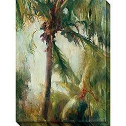 Allyson Krowitz 'Tropical Palm' Gallery-wrapped Art