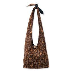 Cotton 'Hieroglyphs' Handbag (Thailand)