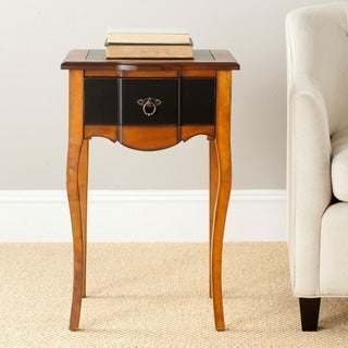 Safavieh Sologna Black and Cherry Brown Side Table