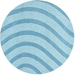 Blue Waves Rug (6' Round)
