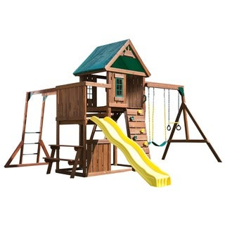 Chesapeake Complete Wood Swing Set Kit