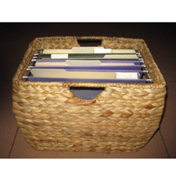 Seagrass File Basket with Liner