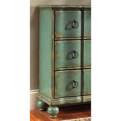 Hand-painted Distressed Blue/Green Accent Chest