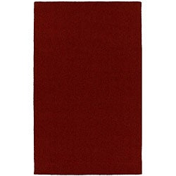 Hard-twist Red Wool Rug (5' x 8')