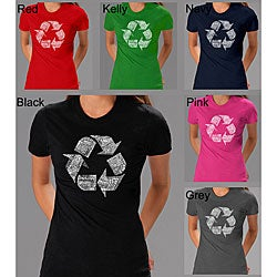 Los Angeles Pop Art Women's Recycle Symbol T-shirt