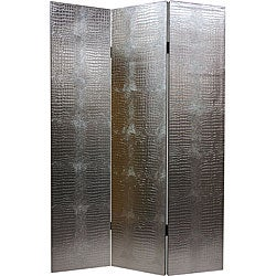 Faux Leather Silver Crocodile Room Divider (China)