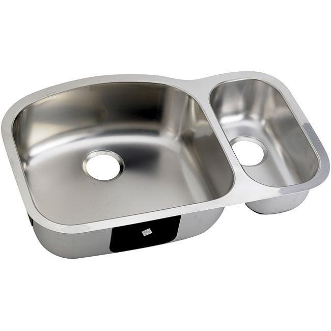 DeNovo Double-basin D-shaped Steel Kitchen Sink