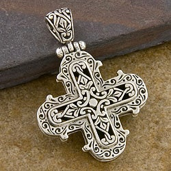 Sterling Silver 'Embellished' Pendant (Indonesia)