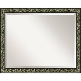 Green Provencal Scroll Large Wall Mirror