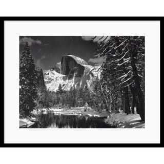 Ansel Adams 'Half Dome, Winter - Yosemite National Park, 1938' Framed Art Print