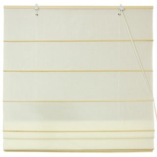 Chinese Artisan 24-inch-wide Easy-hang Cotton Roman Shades (China)
