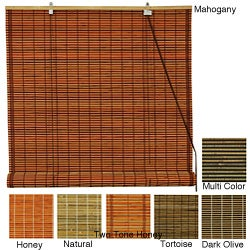 Burnt Bamboo 24-inch Roll-up Window Shade (China)