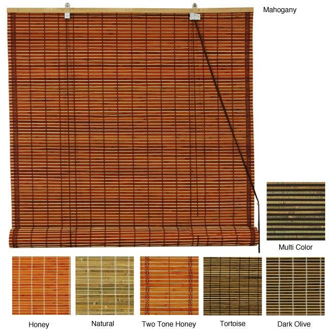 Burnt Bamboo 36-inch Roll-up Window Shade (China)