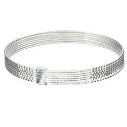 Sterling Essentials Sterling Silver 7-inch Diamond-Cut Bollywood Bangle Bracelet