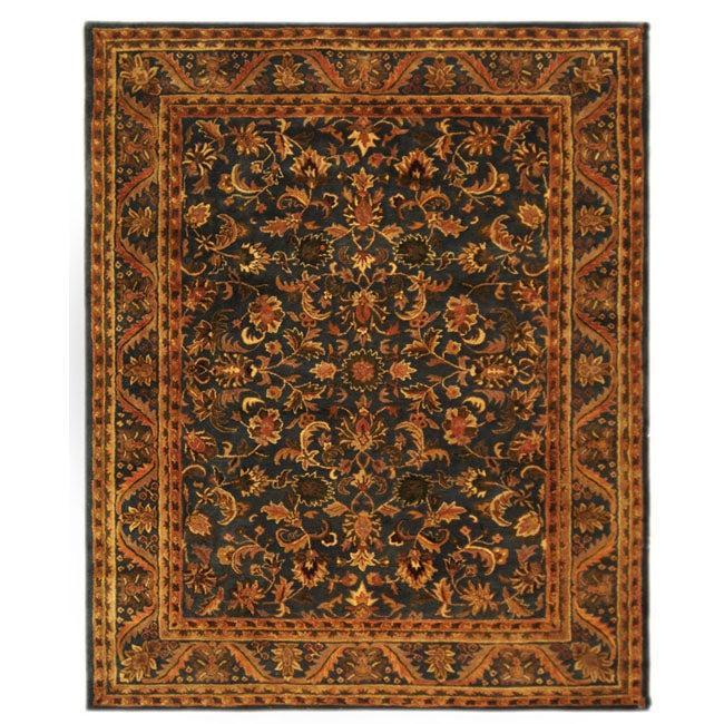 Safavieh Handmade Exquisite Blue/ Gold Wool Rug (9'6 x 13'6)