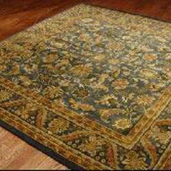 Safavieh Handmade Exquisite Blue/ Gold Wool Rug (6' x 9')