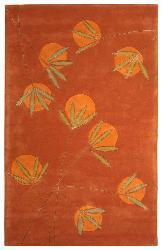 Safavieh Handmade Soho Summer Rust New Zealand Wool Rug (7'6 x 9'6)