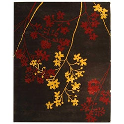 Safavieh Handmade Soho Autumn Brown New Zealand Wool Rug (8'3 x 11')