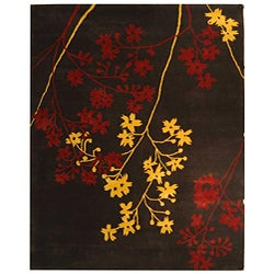 Safavieh Handmade Soho Autumn Brown New Zealand Wool Rug (7'6 x 9'6)