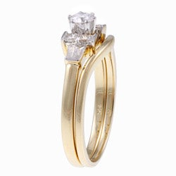 14k Yellow Gold 1/2ct TDW Diamond Bridal Ring Set (G-H-I, I1-I2)