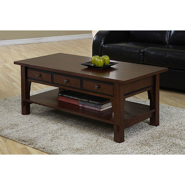 Talisman 3 Drawer Coffee Table Overstock Shopping Great Deals On Coffee Sofa End Tables