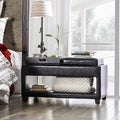 Vanity Storage Bench with Flip-top Tray